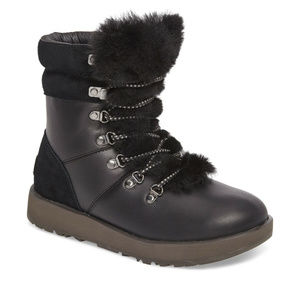 UGG VIKI LEATHER SHEARLING WINTER BOOTS NEW!
